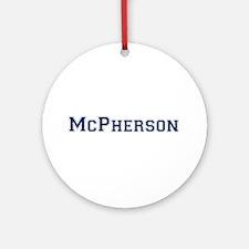 McPherson Last Name Varsity Ornament (Round)
