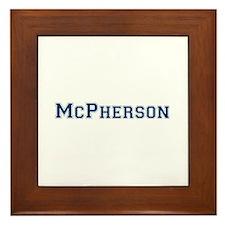McPherson Last Name Varsity Framed Tile