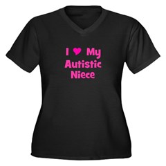 I Love My Autistic Niece Women's Plus Size V-Neck