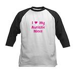 I Love My Autistic Niece Kids Baseball Jersey