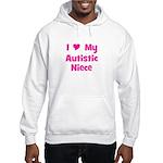 I Love My Autistic Niece Hooded Sweatshirt