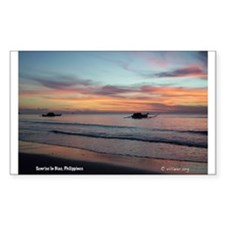 Sunrise in Biao Rectangle Decal