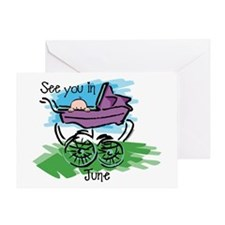 See You In June Greeting Card
