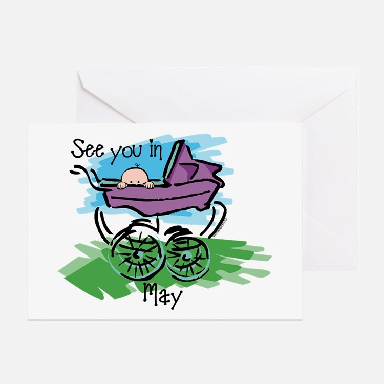 See You In May Greeting Card