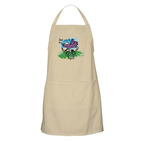 See You In April BBQ Apron