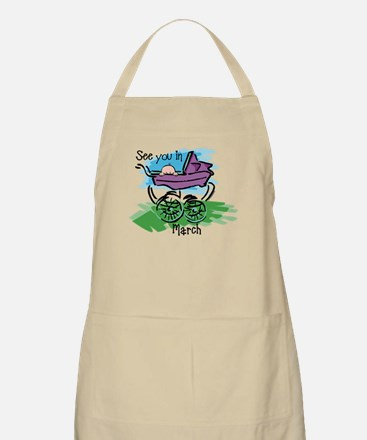 See You In March BBQ Apron