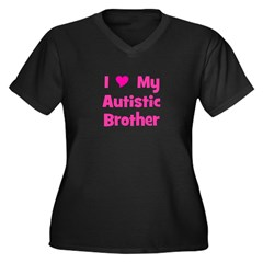 I Love My Autistic Brother Women's Plus Size V-Nec