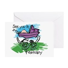 See You In February Greeting Card