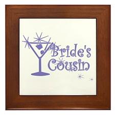 Indi C Martini Bride's Cousin Framed Tile