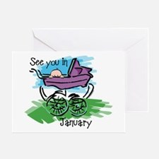 See You In January Greeting Card