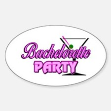 Martini: Bachelorette Party Oval Decal