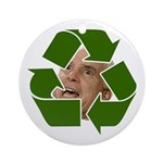 Recycle Ornament (Round)