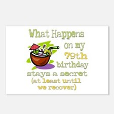 What Happens 79th Postcards (Package of 8)