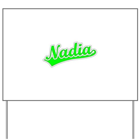 Retro Nadia (Green) Yard Sign
