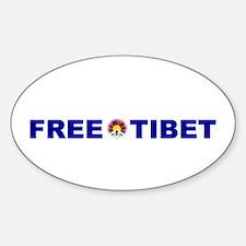 Free Tibet Oval Sticker (10 pk)