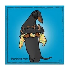 BT Weiner Mom and Pup Tile Coaster