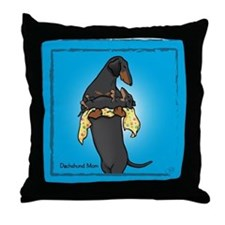 BT Weiner Mom and Pup Throw Pillow