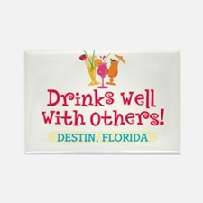 Drinks Well With Others - Rectangle Magnet