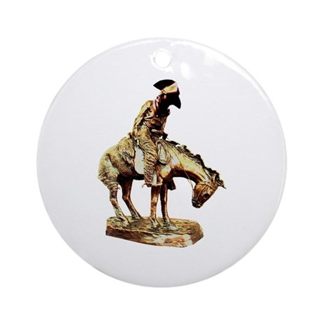 Man on a horse Ornament (Round)