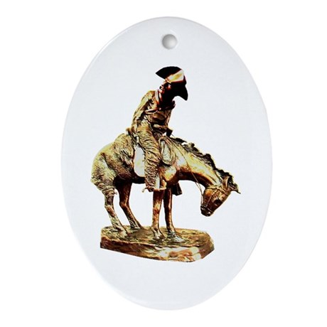 Man on a horse Oval Ornament