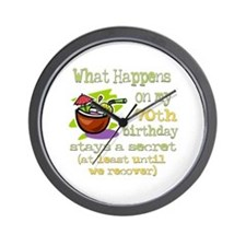 What Happens 70th Wall Clock