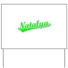 Retro Natalya (Green) Yard Sign