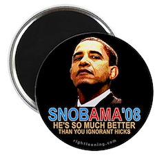 "SNOBAMA '08 anti-Obama 2.25"" Magnet (10 pack)"