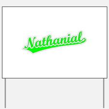 Retro Nathanial (Green) Yard Sign