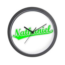 Retro Nathaniel (Green) Wall Clock