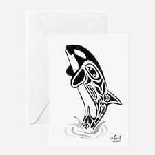 Orca Spirit Greeting Card