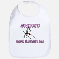 Mosquito Trapped In A Woman's Body Bib