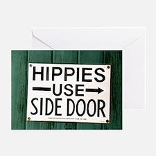 Hippies - Side Door Greeting Cards (Pk of 10)