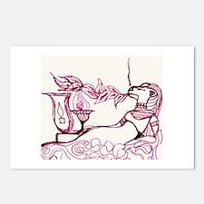 Sekhmet In Red Postcards (package Of 8)