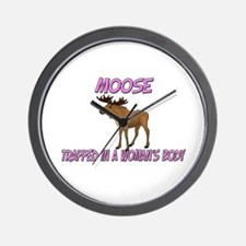 Moose Trapped In A Woman's Body Wall Clock