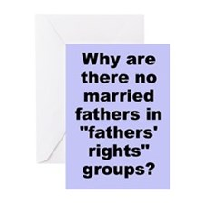 """""""Fathers' Rights"""" Greeting Cards (Pk of 10)"""