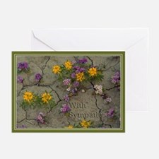Sympathy Flowers Greeting Cards (Pk of 20)