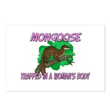Mongoose Trapped In A Woman's Body Postcards (Pack