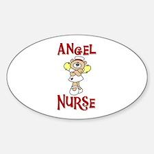 Angel Nurse Oval Decal