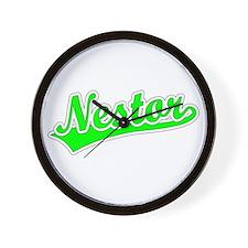 Retro Nestor (Green) Wall Clock