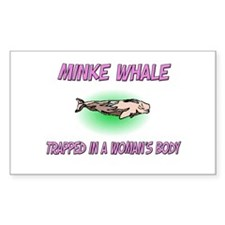 Minke Whale Trapped In A Woman's Body Decal