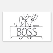 I Boss Rectangle Decal