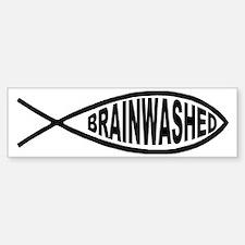 Brainwashed Fish Bumper Bumper Bumper Sticker
