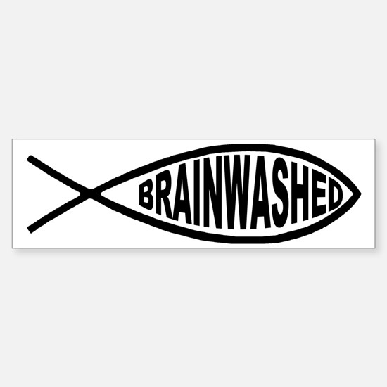 Brainwashed Fish Bumper Car Car Sticker