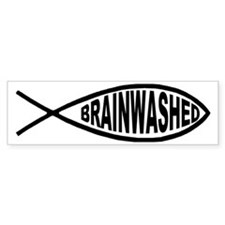 Brainwashed Fish Bumper Car Sticker