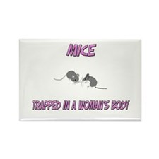 Mice Trapped In A Woman's Body Rectangle Magnet (1