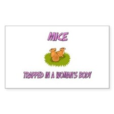 Mice Trapped In A Woman's Body Rectangle Decal