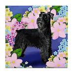 SCHNAUZER DOG GARDEN Tile Coaster