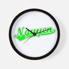 Retro Nguyen (Green) Wall Clock