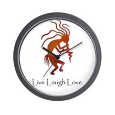 Kokopelli Live Laugh Love Wall Clock