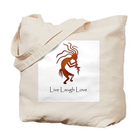 Kokopelli Live Laugh Love Tote Bag